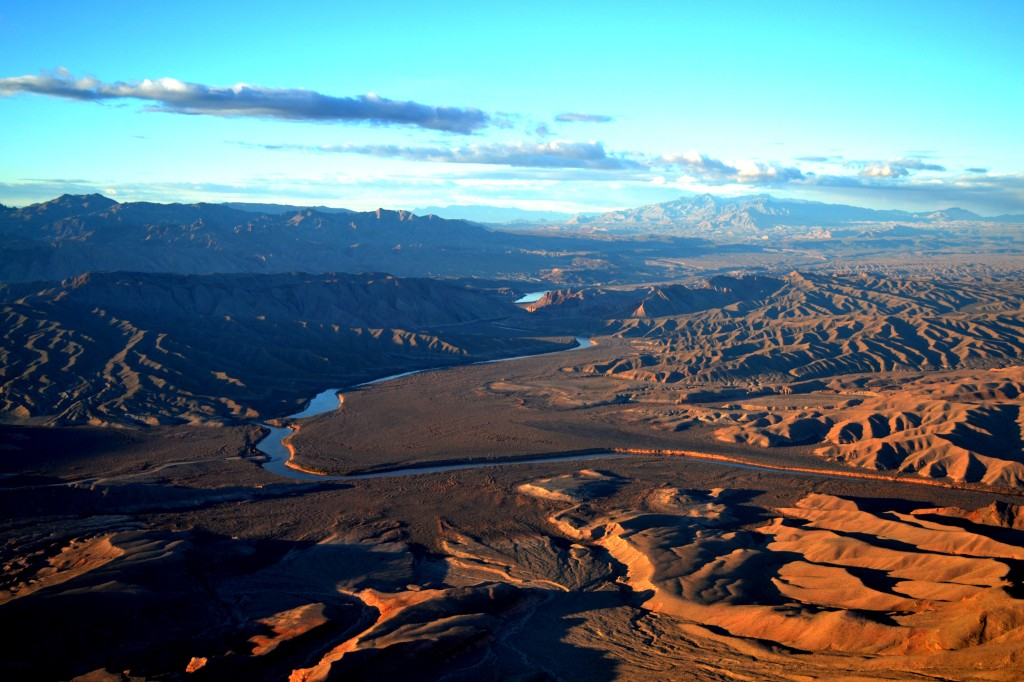 Approaching the Grand Canyon by Helicopter